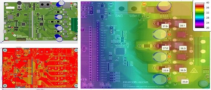Intégrité thermique de la carte DRV8305-Q1EVM de chez Texas Instrument